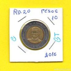 Monedas antiguas de América: REPUBLICA DOMINICANA 10 PESOS 2016 - [C - CT]. Lote 147729666