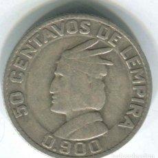 Monedas antiguas de América: HONDURAS, 50 CENTAVOS DE LEMPIRA 1937. PLATA. Lote 147730210