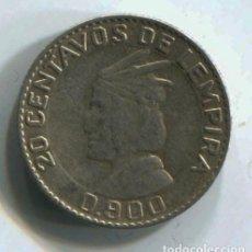 Monedas antiguas de América: HONDURAS, 20 CENTAVOS DE LEMPIRA 1958. PLATA. Lote 147730918