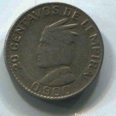 Monedas antiguas de América: HONDURAS, 20 CENTAVOS DE LEMPIRA 1958. PLATA. Lote 147731010