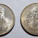 Monedas antiguas de América: LOTE DOS MONEDAS 100 PESOS MÉXICO PLATA 1977 Y 1978. Lote 147734778