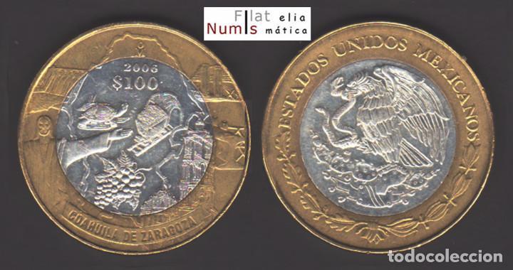 MEJICO - 100 PESOS - 2006 - COAHUILA DE ZARAGOZA - NO CIRCULADA (Numismática - Extranjeras - América)