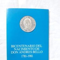 Monnaies anciennes d'Amérique: MONEDA BICENTENARIO DON ANDRES BELLO 1781-1981. Lote 148192418
