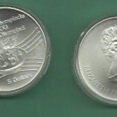 Monedas antiguas de América: PLATA-CANADA. 5 DOLLARS 1975. OLIMPIADA MONTREAL. LLAMA OLÍMPICA. Lote 148346126