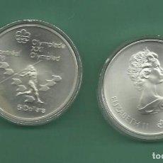 Monedas antiguas de América: PLATA-CANADA. 5 DOLLARS 1975. OLIMPIADA MONTREAL. LANZAMIENTO DE JAVALINA. Lote 148346838