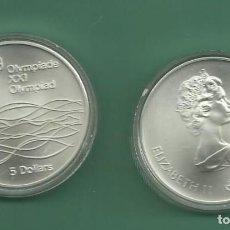 Monedas antiguas de América: PLATA-CANADA. 5 DOLLARS 1975. OLIMPIADA MONTREAL. SWIMMER. Lote 148347422