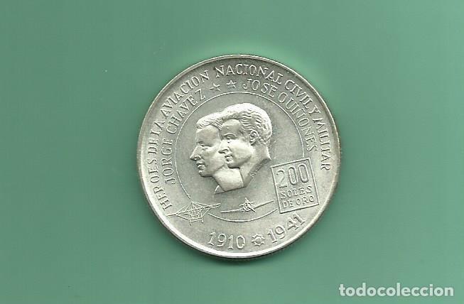 PLATA-PERÚ. 200 SOLES 1974. 22 GR DE 0,800. HEROES AVIACIÓN (Numismática - Extranjeras - América)