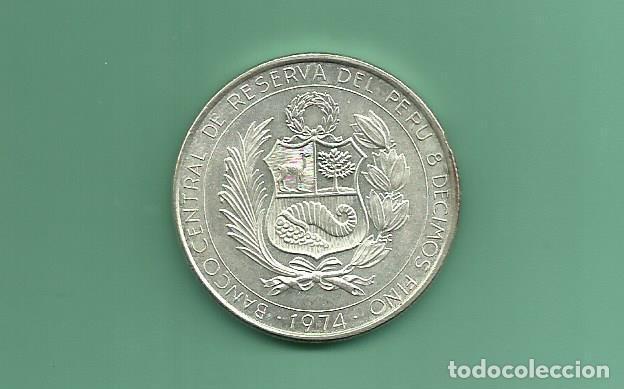 Monedas antiguas de América: PLATA-PERÚ. 200 SOLES 1974. 22 GR DE 0,800. HEROES AVIACIÓN - Foto 2 - 148363686