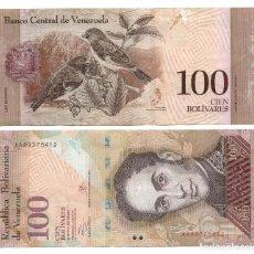 Monedas antiguas de América: VENEZUELA - 100 BOLIVARES 2012. Lote 148373642