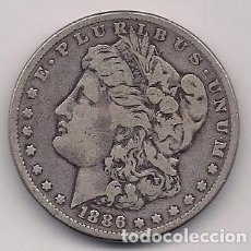 Monedas antiguas de América: ESTADOS UNIDOS 1886 - USA - 1 MORGAN SILVER DOLLAR KM # 110. Lote 148539254