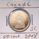 Monedas antiguas de América: CANADA - 50 CENTIMOS 2018 SC - DE ORIGINAL CARTUCHO DE CANADIAN MINT - ENCARTONADA. Lote 148574814