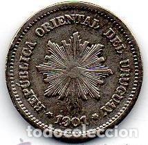 Monedas antiguas de América: URUGUAY MONEDA 1 CENTESIMO 1901 - Foto 2 - 148820482