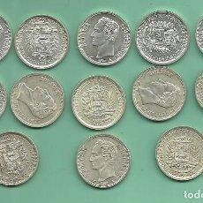 Monedas antiguas de América: 13 MONEDAS DE PLATA DE VENEZUELA 1 BOLIVAR 1965. POSIBLES ARRAS . Lote 148821914