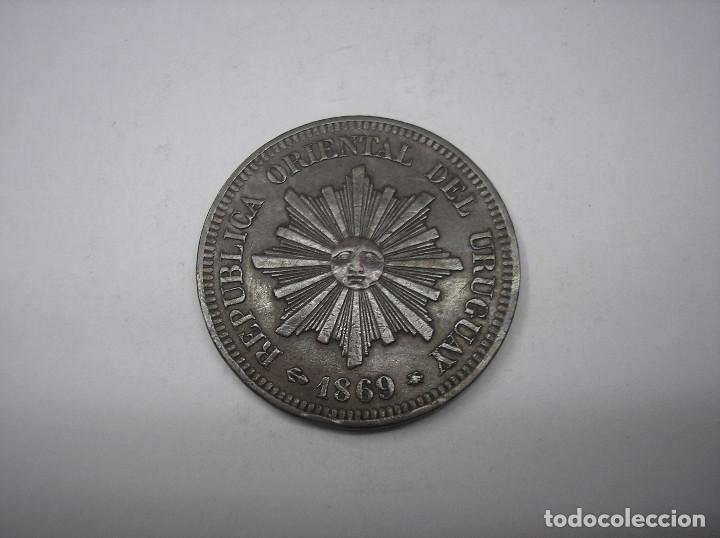 URUGUAY , 2 CENTESIMOS DE METAL DE 1869 A. (Numismática - Extranjeras - América)