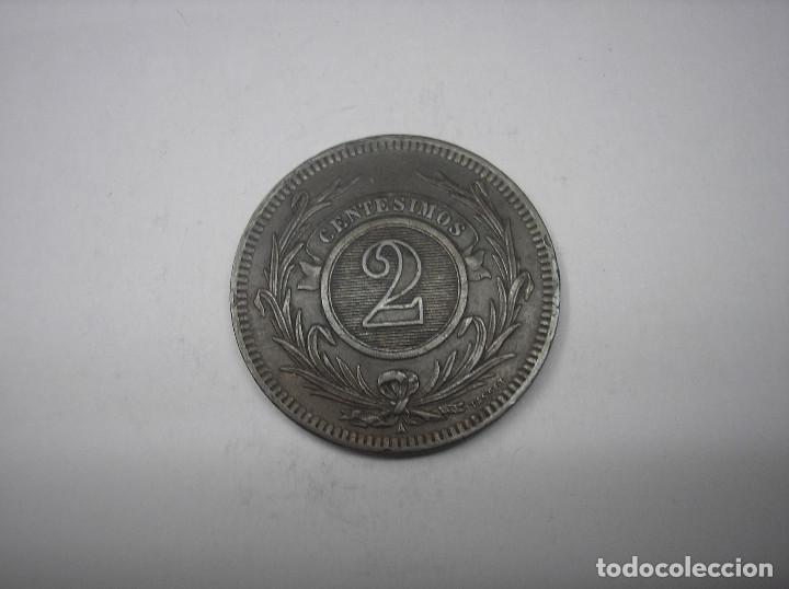 Monedas antiguas de América: URUGUAY , 2 CENTESIMOS DE METAL DE 1869 A. - Foto 2 - 149310230