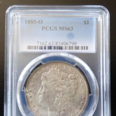 Monedas antiguas de América: USA 1 DOLAR MORGAN 1885-O NEW ORLEANS PCGS MS63 S/C. Lote 149348502