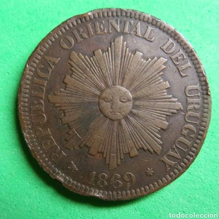 4 CENTESIMOS URUGUAY 1869 (Numismática - Extranjeras - América)