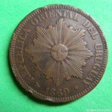 Monedas antiguas de América: 4 CENTESIMOS URUGUAY 1869. Lote 150158156
