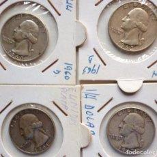Monedas antiguas de América: LOTE MONEDAS PLATA 25 CENTS WASHINGTON. Lote 150435598