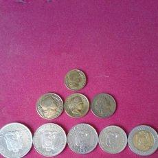 Monedas antiguas de América: 10 MONEDAS SUDAMERICANAS: 2 DE ARGENTINA, 1 DE COLOMBIA DE 1954, 5 DE ECUADOR, 2 DE PERÚ. Lote 150947210