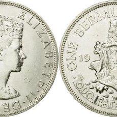 Monedas antiguas de América: BERMUDA 1 CORONA (CROWN) PLATA 1964 FDC. Lote 150985194