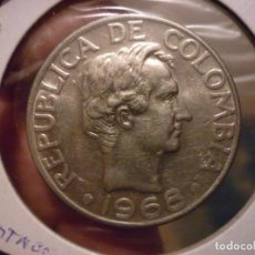 Monedas antiguas de América: COLOMBIA - 50 CENTAVOS 1968. Lote 151002950