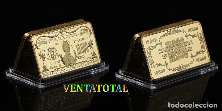 ESTADOS UNIDOS LINGOTE 10.000 DOLARES ORO 24 KILATES 41 GRAMOS ( MORGAN CHASE )Nº2 (Numismática - Extranjeras - América)