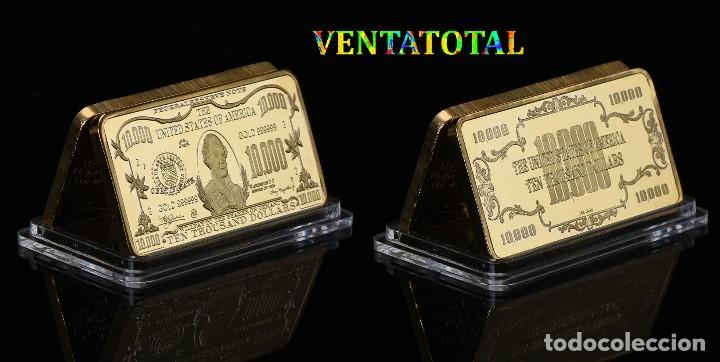 ESTADOS UNIDOS LINGOTE 10.000 DOLARES ORO 24 KILATES 41 GRAMOS ( MORGAN CHASE )Nº3 (Numismática - Extranjeras - América)