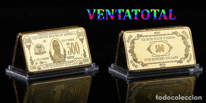 ESTADOS UNIDOS LINGOTE 500 DOLARES ORO 24 KILATES 43 GRAMOS ( PRESIDENTE WILLIAN JR 1897 A 1901 )Nº5 (Numismática - Extranjeras - América)