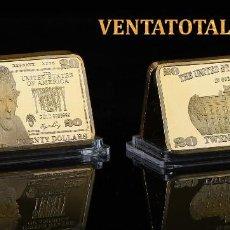 Monedas antiguas de América: ESTADOS UNIDOS LINGOTE 20 DOLARES ORO 24 KILATES 41 GRAMOS ( PRESIDENTE JACKSON 1829 A 1837 )Nº2. Lote 151462738