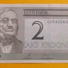 Monedas antiguas de América: ESTONIA. BILLETE DE 2 CORONAS. SIN CIRCULAR.. Lote 151714042