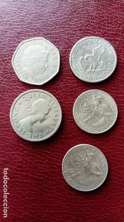 Monedas antiguas de América: 5 Monedas: 1dolar 1980 , 2 quarter dólar 1976 (ver fotos) - Foto 2 - 151758186