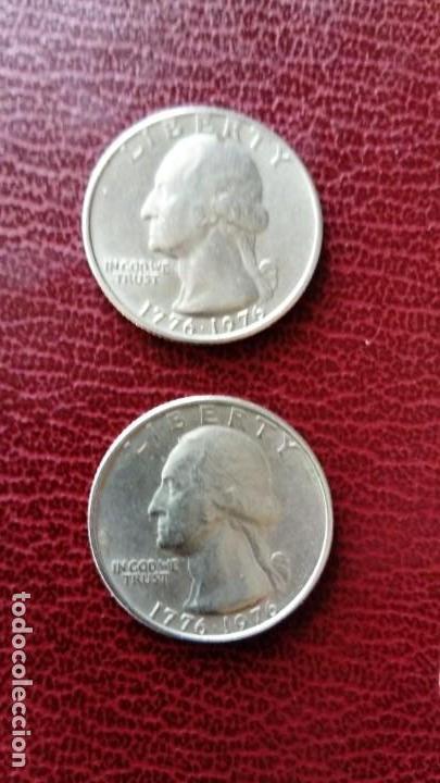 Monedas antiguas de América: 5 Monedas: 1dolar 1980 , 2 quarter dólar 1976 (ver fotos) - Foto 10 - 151758186