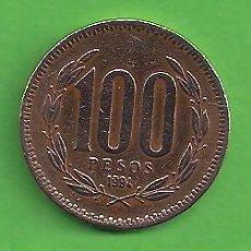 Monedas antiguas de América: MONEDA - CHILE - 100 PESOS - 1994 - ESCUDO DE ARMAS Y CORONA DE FLORES - CIRCULADA.. Lote 151996346
