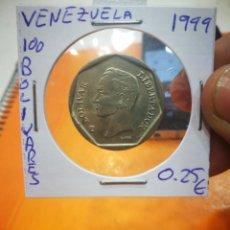 Monedas antiguas de América: MONEDA VENEZUELA 100 BOLÍVARES 1999. Lote 152192238
