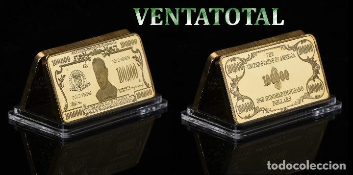 ESTADOS UNIDOS LINGOTE 100 MIL $ ORO DE 24 KILATES 49 GR ( WILSON PRESIDENTE DE 1913 A 1921 ) Nº9 (Numismática - Extranjeras - América)