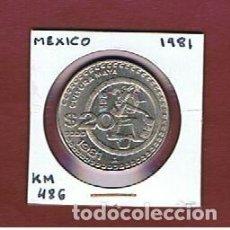 Monedas antiguas de América: MEXICO :1 PESO 1981. EBC-.XF-. KM.486. Lote 152495602
