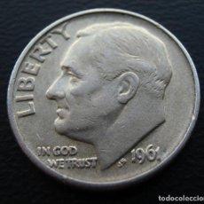 Monedas antiguas de América: ESTADOS UNIDOS, USA, PLATA, DIME 10 CENTS 1961-D. Lote 152586790