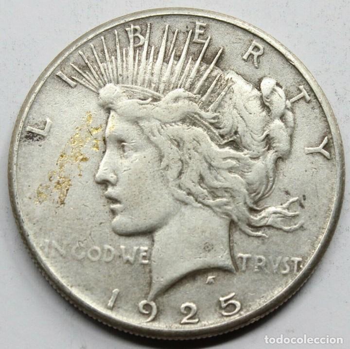 MONEDA USA ESTADOS UNIDOS DOLAR PEACE / LIBERTY 1925 S.PLATA.MBC+ (Numismática - Extranjeras - América)