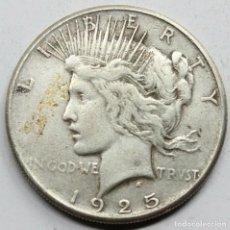 Monedas antiguas de América: MONEDA USA ESTADOS UNIDOS DOLAR PEACE / LIBERTY 1925 S.PLATA.MBC+. Lote 152598442