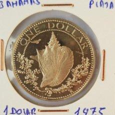 Monedas antiguas de América: BAHAMAS: 1 DOLLAR 1975. Lote 152975242