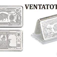 Monedas antiguas de América: ESTADOS UNIDOS LINGOTE 10 DOLARES DE PLATA 46 GRA ( BUFALO AMERICANO Y 2 PRESIDENTES ) Nº6. Lote 153384210