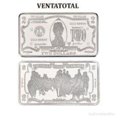 Monedas antiguas de América: ESTADOS UNIDOS LINGOTE 2 DOLARES DE PLATA 40 GRAMOS(PRESIDENTE THOMAS JEFERSON 1801 A 1809)N1. Lote 153400314