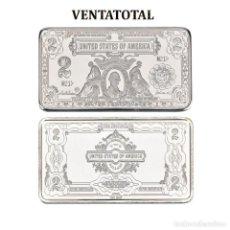 Monedas antiguas de América: ESTADOS UNIDOS LINGOTE 2 DOLARES DE PLATA 41 GRAMOS(PRESIDENTE THOMAS JEFERSON 1801 A 1809)N2. Lote 153400486