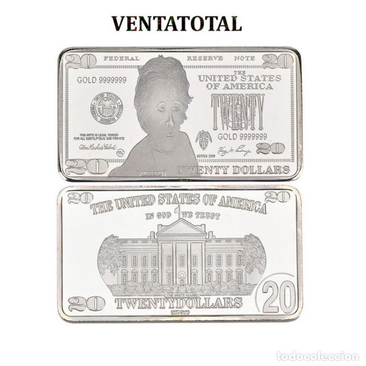 ESTADOS UNIDOS LINGOTE 20 DOLARES DE PLATA 40 GRAMOS ( PRESIDENTE JACKSON 1829 A 1837 )Nº1 (Numismática - Extranjeras - América)