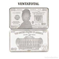 Monedas antiguas de América: ESTADOS UNIDOS LINGOTE 20 DOLARES DE PLATA 40 GRAMOS ( PRESIDENTE JACKSON 1829 A 1837 )Nº1 . Lote 153403546
