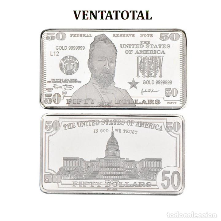 LINGOTE 50 DOLARES DE PLATA 40 GRAMOS( GRANT - PRESIDENTE DE 1869 A 1877 ESTADOS UNI)N1 (Numismática - Extranjeras - América)