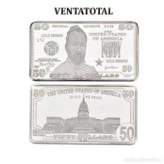 Monedas antiguas de América: LINGOTE 50 DOLARES DE PLATA 40 GRAMOS( GRANT - PRESIDENTE DE 1869 A 1877 ESTADOS UNI)N1. Lote 153403746