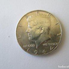 Monedas antiguas de América: ESTADOS UNIDOS * 1/2 DOLAR 1964 * PLATA. Lote 153516102