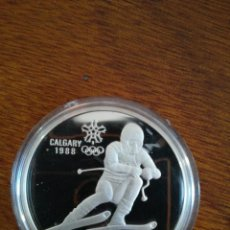 Monedas antiguas de América: 20 DOLLAR CANADA 1985 PLATA 925 PROOF S/C XV OLYMPIC WINTER 34,107GR CALGARY 1988. Lote 153584402